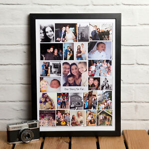 PERSONALISED PHOTO COLLAGE / MONTAGE - PRINT, CANVAS, FRAMED PRINT OR DOWNLOAD