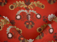 10Y VALDESE 30694-56 BEAUTIFUL BLOSSOM FLORAL DAMASK CHENILLE UPHOLSTERY FABRIC