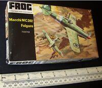 Macchi MC202 Folgore Italian WW2 Fighter.1:72 Vintage 1960s Frog. Black Box 2