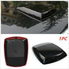 Car Black Decorative 3D Simulation Air Flow Intake Hood Scoop Bonnet Vent Cover