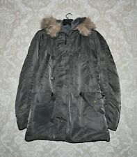 ALPHA INDUSTRIES Mens N-3B Parka Extreme Cold Weather Military Jacket Size M