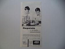 advertising Pubblicità 1962 LEGO SYSTEM