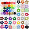 100PCS DIY 3cm Satin Ribbon Flower with Crystal Bead Appliques~Craft/Trim/Decor