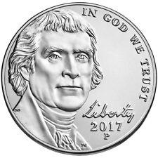 2017 P Jefferson Nickel. Choice BU From Bank Roll