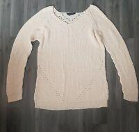 Womens Dorothy Perkins top Jumper size 10  cream comfy winter warm vgc