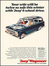 1966 Jeep Kaiser Wagoneer Vintage Advertisement Print Art Car Ad K107