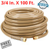"Heavy Duty Commercial Industrial Garden Water Hose All Weather 3/4"" x 100 Feet"