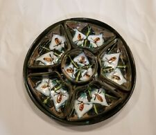 New listing Mexican Talavera Pottery Chip Dip Taco Serving Dish 7 Pc Set Lily Floral Boho