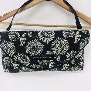 Petunia Pickle Bottom Floral Print Black & White Diaper Bag Wristlet Wipe Case