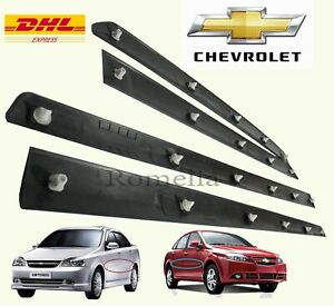 Kit 4PCS Moulding SIDE BAR DOOR Front Rear Fits Chevrolet Optra Lacetti Lh & Rh