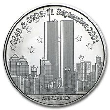 WTC 911 World Trade Center Forever In Our Hearts 9/11/01 1 oz .999 Silver Round