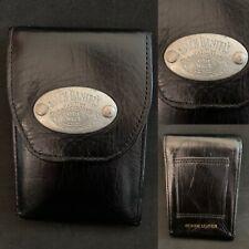 Vintage JACK DANIELS Black Leather Waist Belt Coin Pouch Purse