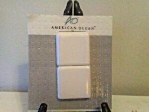 "$3 ARV, American Olean Wall Bullnse, Gloss White  2x2x1/4"" O/S Crnr, NIP"