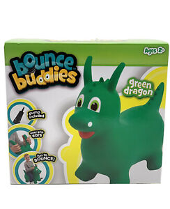 Bounce Buddies Dragon Ride Toy Bouncing Ball Green Pump Included NEW Dinosaur 2+