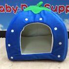 Pet Dog Cat Warm Strawberry Bed House Kennel Doggy Soft Cushion Basket 3 Size FI