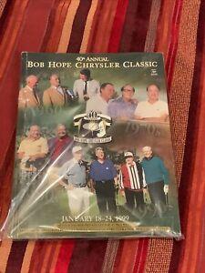 Bob Hope Golf Program 1999 40th Chrysler Classic Program