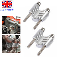 """Motorcycle CNC Handlebar Riser Rise Bar Clamp Mount for 7/8"""" 22mm Handle Silver"""