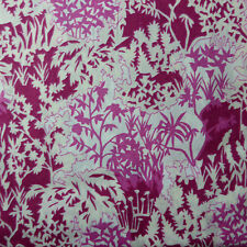 """96cm x1.37m Impresiones De Césped Jardín de papel """"libertad"""" Vestido de algodón tela artesanal Magenta"""