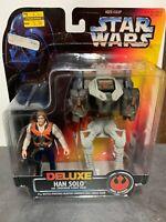Kenner Star Wars Deluxe Han Solo Smuggler Flight Action Figure
