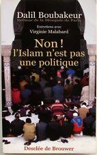 Non, L'islam N'est Pas Une Politique - Dalil Boubaker - Mosquée de Paris 2003