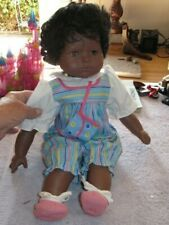 """Gotz Puppe African American Vinyl 18"""" Doll - Made in Germany"""