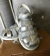 $78 NIB Naturino 5004 Leather Silver Sandal Shoes sz 25  (8.5 8 9) girl toddler