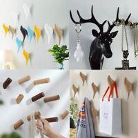 Creative Wall Hanger Door Hook Antlers Head Bird Kitchen Bathroom Storage Holder