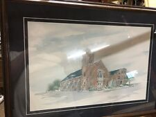 First Presbyterian Church Greenwood Missippi 1846 Picture Matted Frame Zimeister