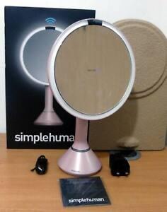 Simplehuman ST3029 20CM Sensor Mirror, Touch-Control Brightness -  Pink Steel