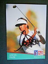 Steve Pate - 1991 Proset Autographed PGA Golf card # 84 - Tour card