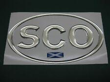 1 Escocia Oval Chrome Dome Auto Adhesivo Con escocés Saltire 130 mm x 72 mm
