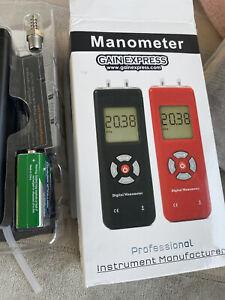 Handheld Digital Manometer HVAC Air Vacuum Gas Differential Pressure Gauge Meter