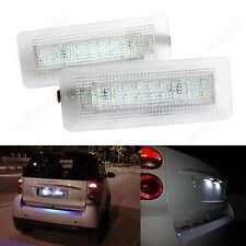Canbus SMD LED Kennzeichen Beleuchtung für Smart Fortwo Cabriolet Coupe 450 451