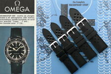 Tropic type silicone rubber watch strap for Omega Seamaster. Diver watch band.