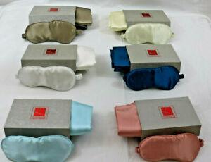 "Silk Pillowcase 19"" X 29"" & Matching Pillowcase & Storage Box - 6 colours"