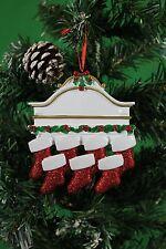 Personalizado De Árbol De Navidad Decoración Ornamento manto blanco familia de 7