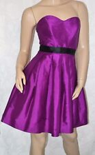 BELLE by OASIS Size 10 Gorgeous Purple Magenta A Line Princess Party Dress SILK