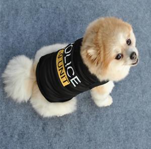 Dog Black Pet Puppy T-Shirt Clothes Coat Apparel Costumes Warmer Summer Top Vest