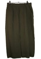 COUNTRY ROAD Vintage | Women's Lined Linen Skirt | Front Split | Khaki | Size 12