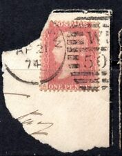 1871 SG 43 1d rose-red 'AI' Plate 150 with London West Duplex Cancellation