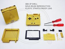 Concha de Oro Zelda Nintendo Game Boy Advance SP Repuesto Carcasa Gba caso Shell