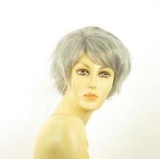 Perruque femme grise cheveux lisses ref ROMANE 51
