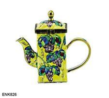 KELVIN CHEN Enamel Mini Copper Handpainted Teapot- Grape & Ladybug