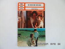 CARTE FICHE CINEMA 1989 UN WEEK END SUR DEUX Nathalie Baye Joachim Serreau