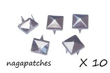 Lot de 10 rivets clous pyramid studs style mode punk / gothic en nickel DIY-001