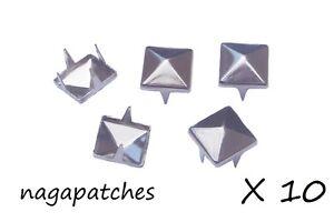 Lot Of 10 Rivets Nails Pyramid Studs Style Fashion Punk/Gothic Nickel DIY-001