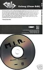 M.I.A. Galang CLEAN EDIT PROMO RADIO DJ CD Single MIA