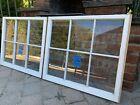 2 - 32 x 27-1/4 Vintage Window sash old 6 pane From 1970s Arts & Craft