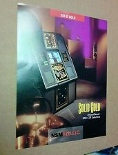 NSM MUSIC SOLID GOLD (HYPERBEAM) CD Jukebox flyer- original