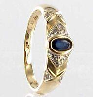 585  ECHT GOLD *** Ring  Gr. 56 (18) Safir, Diamant